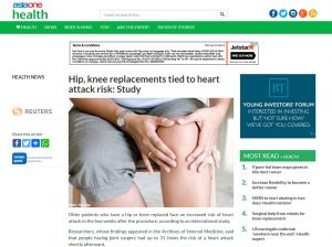 Hip, Knee Replacements Tied to Heart Attack Risk